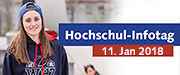 Infobutton: Hochschulinformationstag am 11. Januar 2018